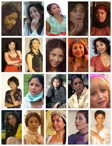 Personajes representados en telenovelas<br/><i>televisión chilena</i>
